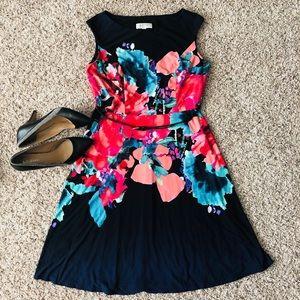 🌷2/$32🌷Kasper Blue Red Multi Floral Dress